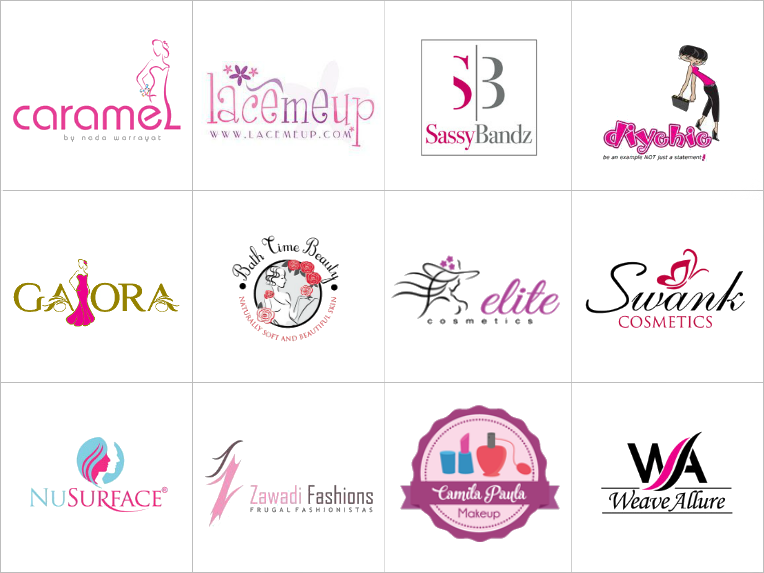 Custom Cosmetics Logos