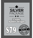 3 Custom Banner Design Package