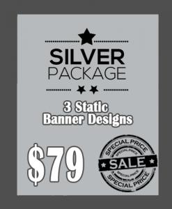 3 Custom Banner Design Package