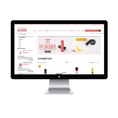 Beauty Products Website design Services