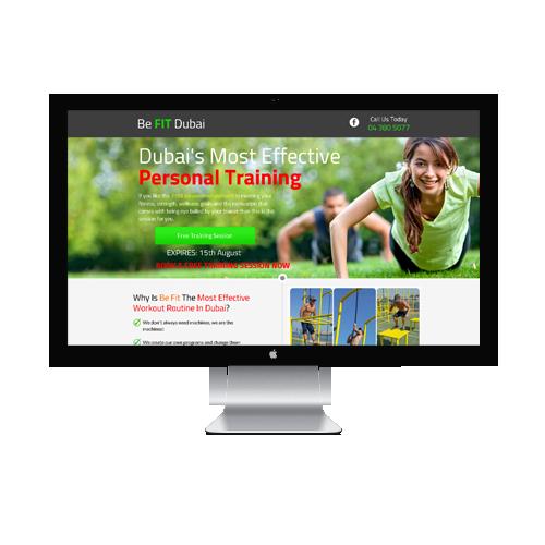 Befit Landing Page Design