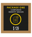 Bronze Custom Stationery Design Package