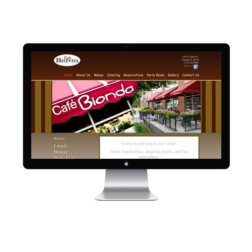 Cafe Website design Services