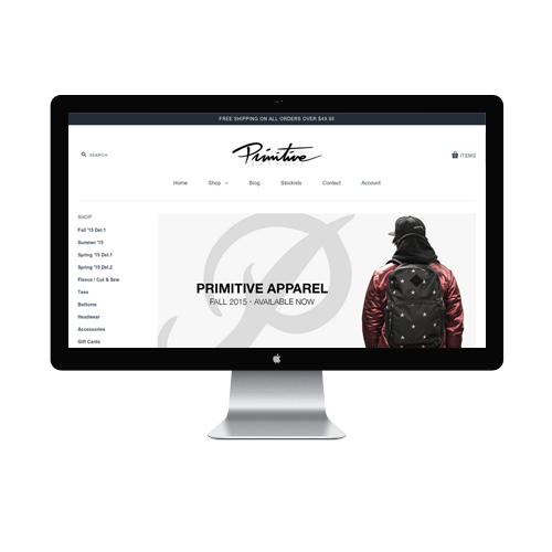 Clothing Sites Web Design