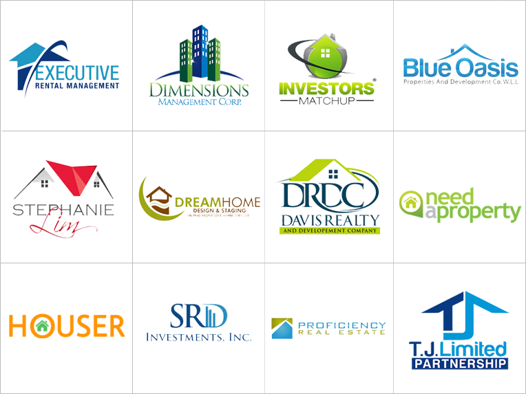 Custom real estate logo design