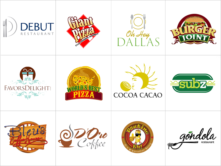 Restaurant logos with names pixshark images