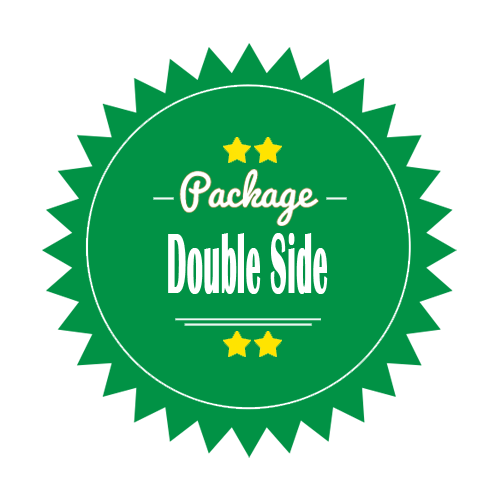 Double Side Leaflet Brochure Design Package