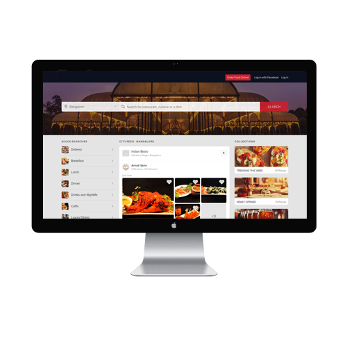 Food Magazine Website design