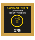 Gold Custom Stationery Design Package