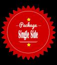 Single Sided Leaflet Brochure Design Package