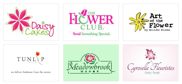 Custom Flower Logo Designs