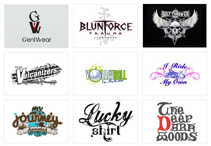 Custom T-Shirt Logo Design