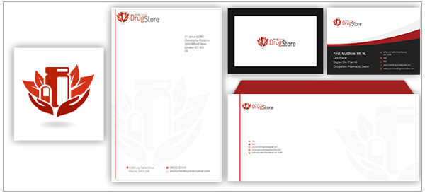 Drug Store Logo Stationery Designs
