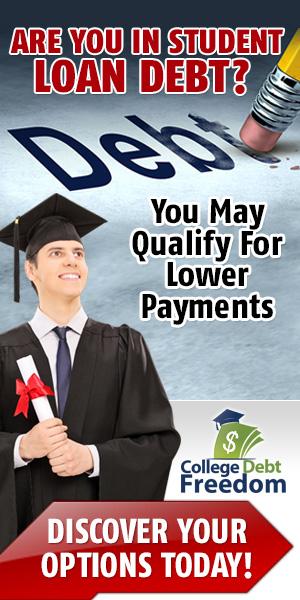 Educational Loan Debt Banner Design