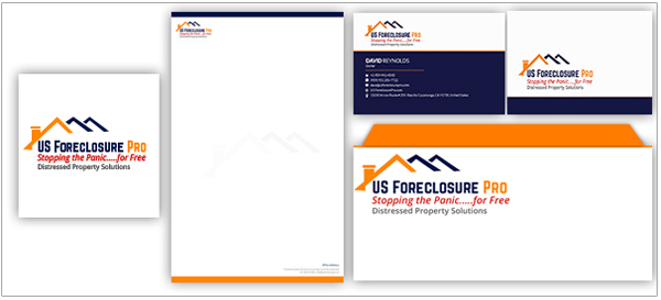 US Foreclosure Logo Stationery Designs