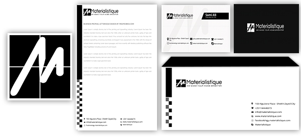 Materialistique Logo Stationery Designs